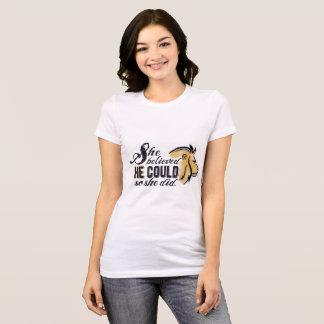 Hon trodde HONOM kunde den kristna encouragmenten Tee Shirts