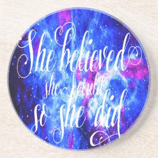 Hon trodde i älskare dröm underlägg sandsten