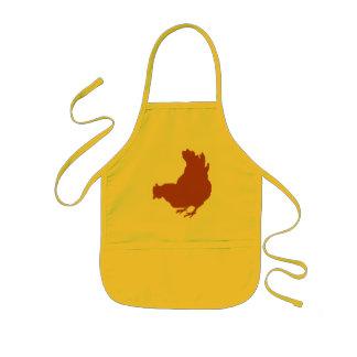 Höna [höna, bonde, organiska ägg] barnförkläde