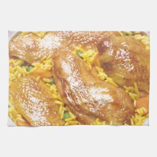 Höna och ris kökshandduk