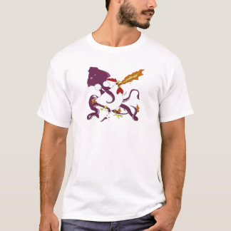 höna vs tioarmad bläckfisk t-shirts