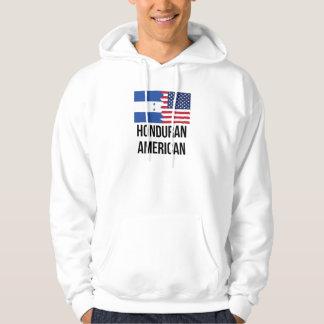 Honduransk amerikanska flaggan tröja med luva