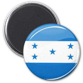 Honduransk flagga för skina runda magnet