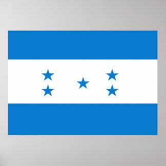 Honduras flagga poster