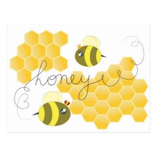 honey vykort