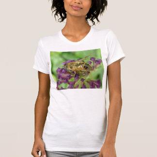 Honeybee och skjorta för lila blommor T T-shirts