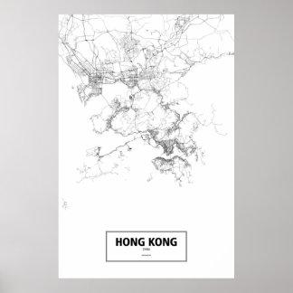 Hong Kong china (svarten på vit) Poster