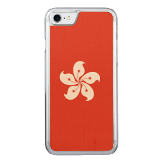 Hong Kong flagga Carved iPhone 7 Skal