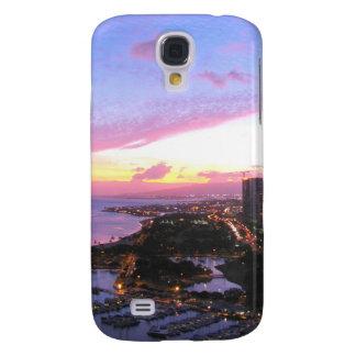 Honolulu cityscapeHawaii solnedgång Galaxy S4 Fodral