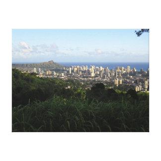Honolulu Hawaii Canvastryck