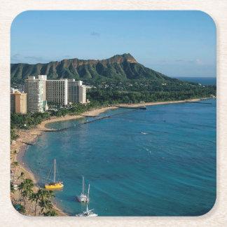 Honolulu Hawaii Underlägg Papper Kvadrat