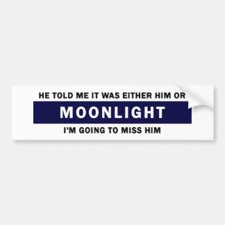 Honom eller månsken bildekal