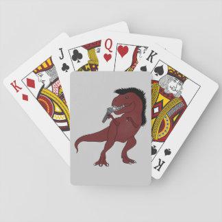Honom-Rex sångare som leker kort Spel Kort