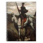 Honore Daumier - universitetslärare Quixote i berg Anteckningsbok