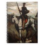 Honore Daumier - universitetslärare Quixote i berg Spiralbundna Anteckningsböcker