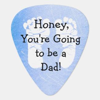 """'Honung, går du att vara vitfotspår för en pappa"""" Plektrum"""