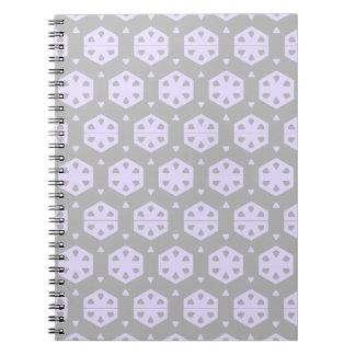 Honungskakan cirklar emballagemönster (grått & anteckningsbok med spiral