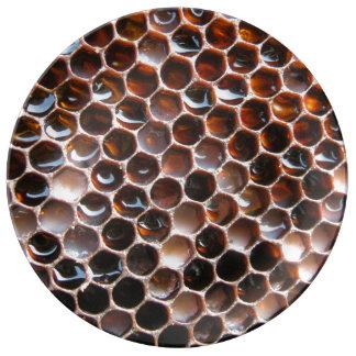 Honungskakor Porslinstallrik