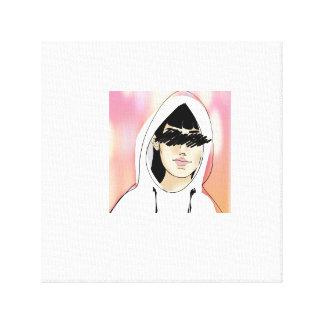 Hooded flicka canvastryck