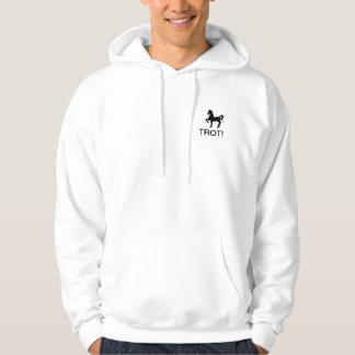 """Hooded svettskjorta med den Saddlebred """"TRAVET! """", Sweatshirt"""