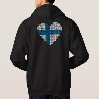 Hooded tröja för Sisu hjärtabaksida