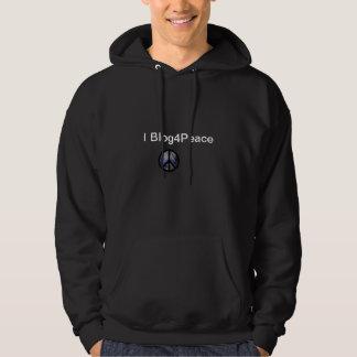 """Hooded tröja för världsfredstecken """"mig"""