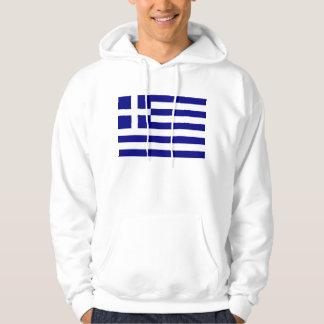 Hooded tröja med flagga av Grekland