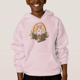 Hoodie för barn för basket för påskHoodiepåskhare