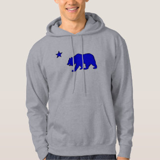Hoodie för grabbar för björn för blått för