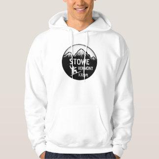 Hoodie för grabbar för Stowe Vermont svart