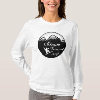 Hoodie för konst för Stowe Vermont damsnowboard