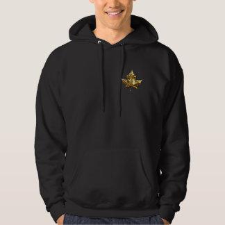 Hoodie för lönnlöv för kall Kanada Hoodie guld-