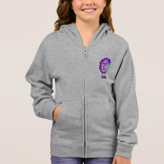 Hoodie för personligflickagymnastik med zipperen