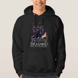 Hoodie för Pullover för MD-blåttdrake, svart