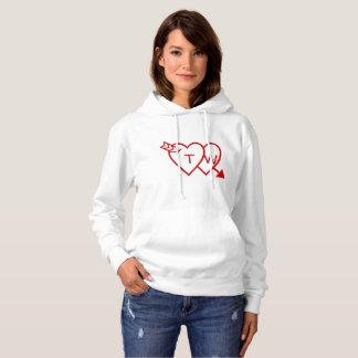 Hoodie - hjärtor med pilen