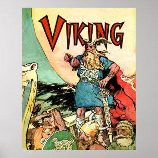Hoodies för Thor för Viking Norsegudar Poster