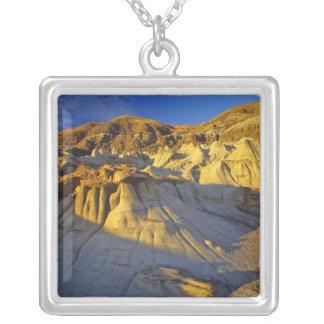 Hoodoos på Drumheller Alberta, Kanada Silverpläterat Halsband
