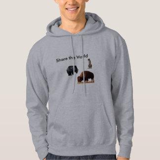 Hoody - dela världen sweatshirt med luva