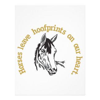 Hoofprints på våra hjärtor brevhuvud