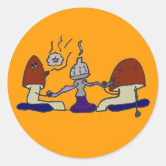 Hookahen plocka svamp klistermärken