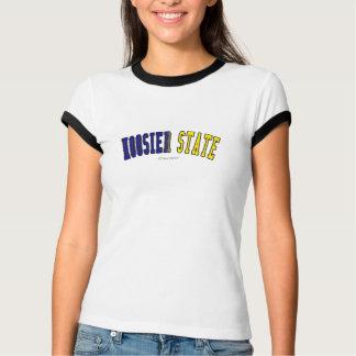 Hoosier som är statlig i statlig flaggafärger tee shirt