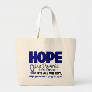 HOPP 1 för ALS Lou Gehrig's Disease Jumbo Tygkasse