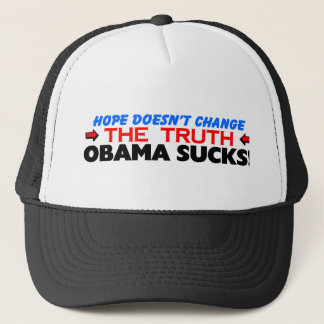 Hopp ändrar inte sanningen: Obama suger! Truckerkeps