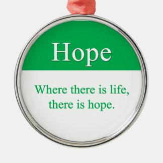 Hopp är alltid ett alternativ julgransprydnad metall