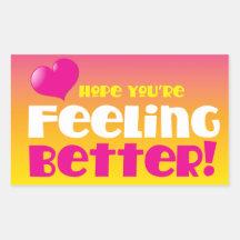 Hopp är du känslig förbättrar! få väl retangel klistermärke