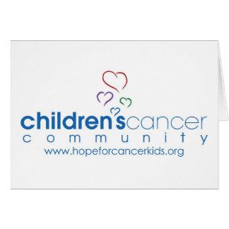 Hopp är starkare än cancer Notecard Hälsningskort