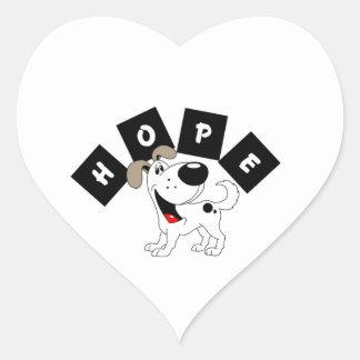 Hopp (Cutie) Hjärtformat Klistermärke