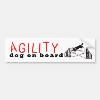 Hopp för Agilityhund ombord - Bildekal