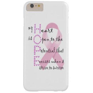 Hopp från hjärta att slåss mot cancer barely there iPhone 6 plus fodral