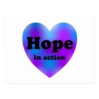 Hopp i handling vykort